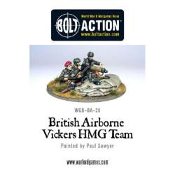 British Airborne Vickers Hmg & Crew