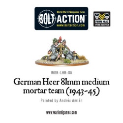 German Heer 81mm Mortar Team