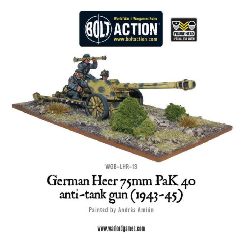 German 50 Mm Anti Tank Gun: German Heer PAK 40 75mm ATG