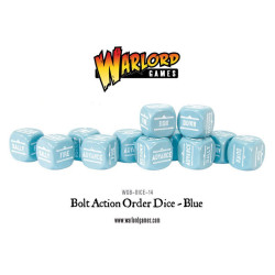 Bolt Action Orders Dice – Blue (12)