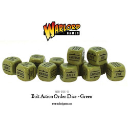 Bolt Action Orders Dice – Green (12)