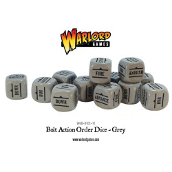 Bolt Action Orders Dice – Grey (12)
