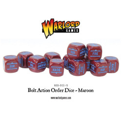Bolt Action Orders Dice – Maroon (12)