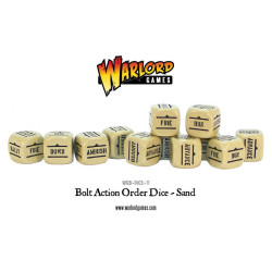 Bolt Action Orders Dice – Sand (12)