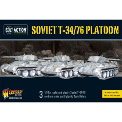 Soviet T34/76 Medium Tank Platoon (3) with Tank Riders