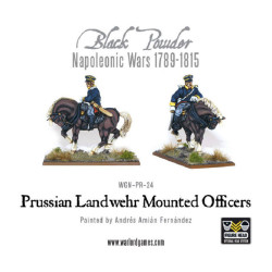 Prussian Landwehr Mounted Officers