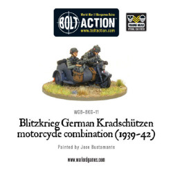 Blitzkrieg German Kradschutzen Motorcycle Combination (1939-42)