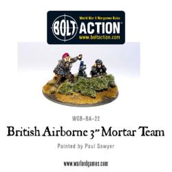 """British Airborne 3"""" Mortar & Crew"""