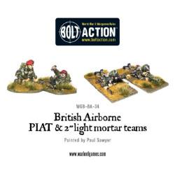 British Airborne Piat And Light Mortar Teams