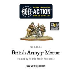 British Army 3″ Mortar Team
