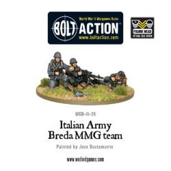 Italian Army Breda medium machine gun team