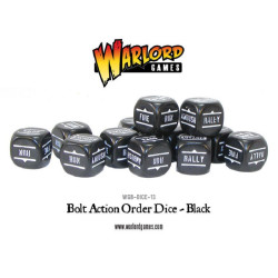 Bolt Action Orders Dice – Black (12)