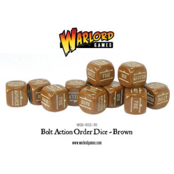 Bolt Action Orders Dice – Brown (12)