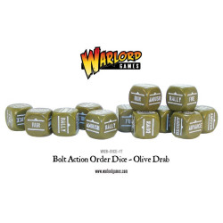 Bolt Action Orders Dice – Olive Drab (12)