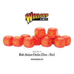 Bolt Action Orders Dice – Red (12)