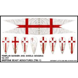 Milites Christi Templar Banners & Shield transfers TBS1