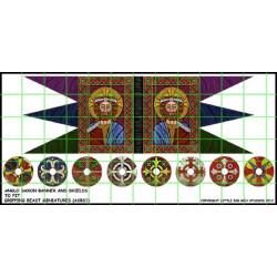 Anglo Saxon Banner & Shield Transfers LSBS01