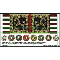 Dark Age Celt Banner & Shield Transfers