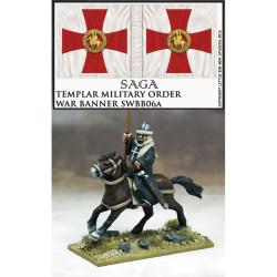 Military Order War Banner & Bearer (Templar) – SWBB06T