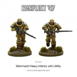 German Heavy Infantry with LMGs