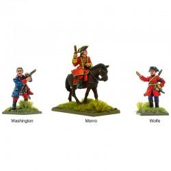 British Characters: Washington, Monro & Wolfe