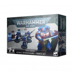 Space Marines: Assault Intercessors and Paints Set